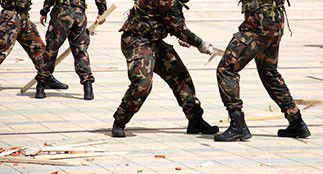 Combattant de l'infanterie
