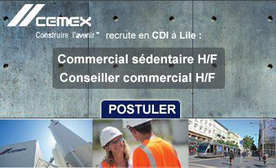 Cemex recrute : Conseiller commercial H/F, Commercial sédentaire H/F