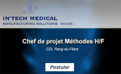 In'Tech Medical recrute Chef de projet Méthodes H/F