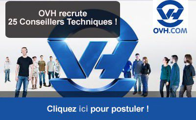 OVH recrute 25 Conseillers Techniques !