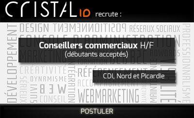 Cristal'ID recrute des conseillers commerciaux H/F