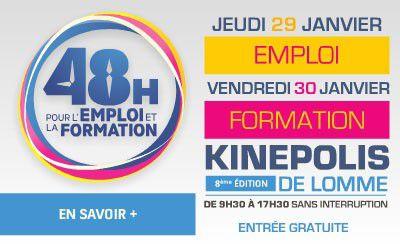 48h pour l'Emploi et la Formation les 29 et 30 janvier au Kinépolis de Lomme