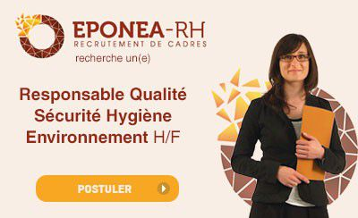 Eponea-RH recherche un(e) Responsable Qualité Sécurité Hygiène Environnement H/F