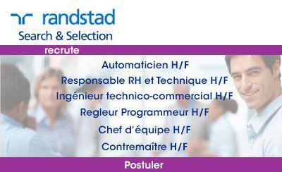 Randstad Search & Selection : 8 postes à pourvoir