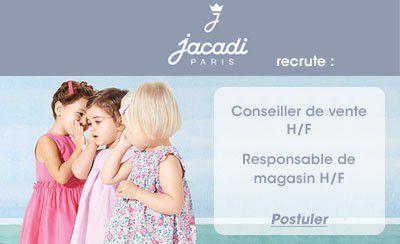 Jacadi recrute : Conseiller de vente H/F, Responsable de magasin H/F