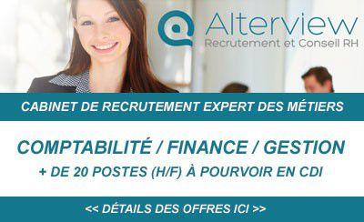 Alterview, cabinet RH spécialisé sur les métiers de la Comptabilité / Finance