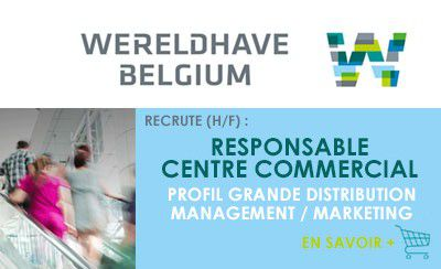 Wereldhave recrute un(e) responsable de centre commercial